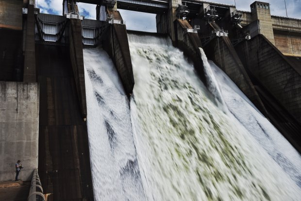 Warragamba spillway releases water into the Hawkesbury Nepean river system after the East Coast Low brought floodwaters into the catchment in 2015.