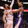 Baynes duels with Simmons as 76ers suffer first loss