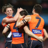 Giants paint Sydney orange after trouncing Swans to march into semis
