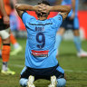 Bobo denied goal on return as Roar blunts star-studded Sky Blues