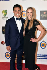 Ellyse Perry with husband Matt To'omua.