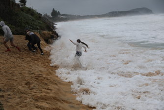 Erosion of beaches such as those along the Central Coast may again be a risk if another low forms offshore as forecasters expect.
