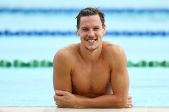 Leading Australian swimmer Mitch Larkin was until this week training for the Tokyo Olympics.