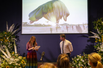 National Gallery of Australia director Nick Mitzevich and artist Partricia Piccinini announce the commission of a companion piece to Skywhale, to be launched early next year.