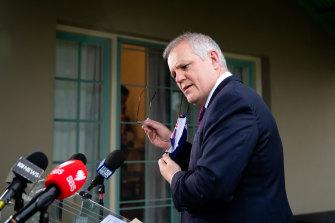 Mr Morrison was keen to avoid responsibility for Sydney's lockdown.