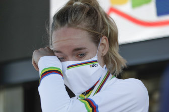 Anna van der Breggen of the Netherlands achieved a rare feat winning the women's time-trial and road race double.