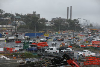 Construction is underway on the Rozelle Interchange, which will connect the new M4-M5 Link tunnels with Anzac Bridge and Iron Cove Bridge.
