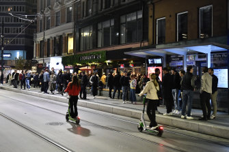 People out on the streets after the end of COVID-19 restrictions in Oslo on Saturday.