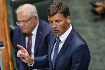 Delaying tactics? Emissions Reduction Minister Angus Taylor during Question Time.