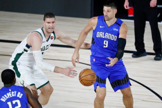 Nikola Vucevic scored 35 points as Orlando continued title favourites Milwaukee's barren run in the NBA bubble.