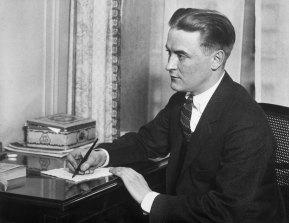 The Great Gatsby novelist Scott Fitzgerald.