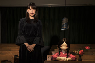"Chiho Aoshima with one of her alter-ego ""little girls""."