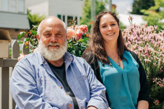 "Bill Lark and his daughter Kristy Booth-Lark: ""I'm lucky I've grown up with parents who have shown me it's okay to do something, to fail and pick yourself up and keep going,"" says Kristy."