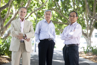 Translators Ali Bazzi, Kim Vo and Ninh Nguyen have at least 90 years of experience between them.
