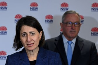 NSW Premier Gladys Berejiklian announces the easing of COVID-19 restrictions.
