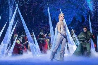 Jemma Rix stars in the Australian production of Frozen.