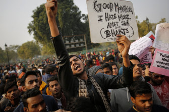 Students have been protesting against new citizenship laws, which critics say is an attempt by the Modi government to marginalise India's 200 million Muslims.