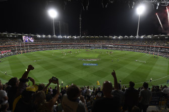 A refurbished Gabba, which hosted the 2020 AFL grand final, will be the venue for the 2032 Olympics opening ceremony in a gift to the 18-player game.