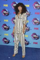 Zendaya attends the 2017 Teen Choice Awards in her best jim jams.