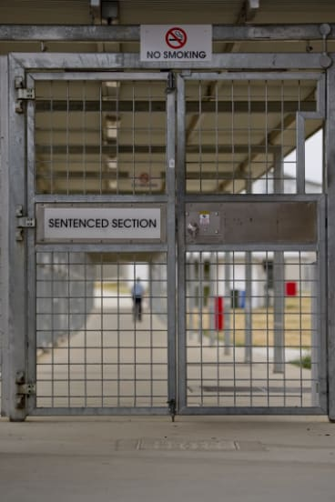 Entrance gates to the sentenced section at AMC