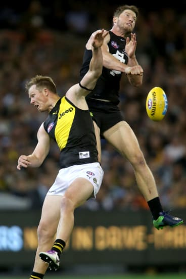 Richmond's Jack Riewoldt will gain aerial assistance from the recruitment of Tom Lynch.