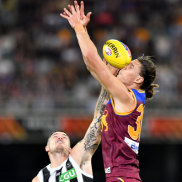 Magpies stun Lions, silence sellout Gabba crowd