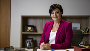 NSW Opposition Leader Jodi McKay in her office at State Parliament.