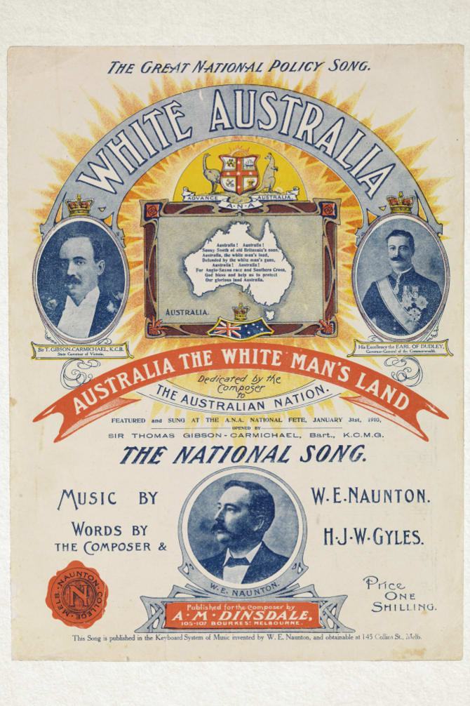 Sheet music for The Great National Policy Song, 1910.