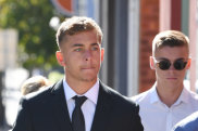In doubt: Callan Sinclair arrives at Wollongong Local Court.