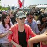 US Democratic candidates visit children's migrant shelter amid fury over conditions