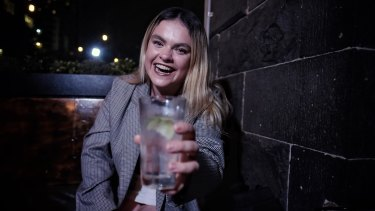 Here's to you, and you, and you: Katie Rowe relishes connections with strangers.