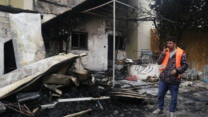 Fire damages Greek island refugee centre as Turkey-EU tensions fester