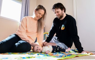 Shane and Alicia Kelton feel blessed to have had baby Ryder after one cycle of IVF, following Mr Kelton being diagnosed with sperm motility issues.
