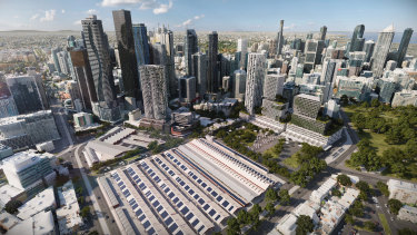 An image of the latest proposed redevelopment of Queen Victoria Market.