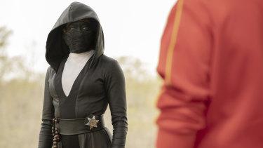 "Regina King as Detective Angela Abar – aka ""Sister Night"" – in Watchmen."
