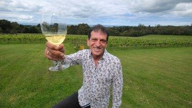 Red Hill Estate winery owner Franco Fabrizio on Saturday.