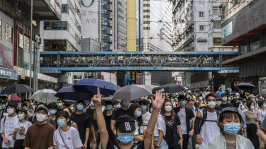 China suspects churches of being behind protests in Hong Kong.