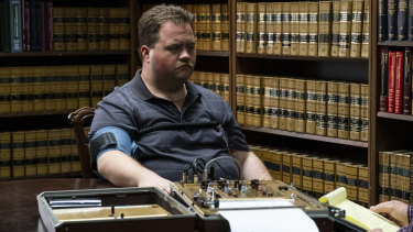 Paul Walter Hauser stars as security guard Richard Jewell, who was blamed for the bombing at the 1996 Atlanta Olympics.