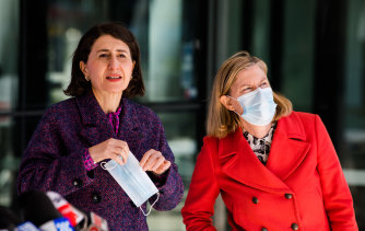 Gladys Berejiklian and Chief Health Officer Kerry Chant provide a COVID-19 update on Friday.