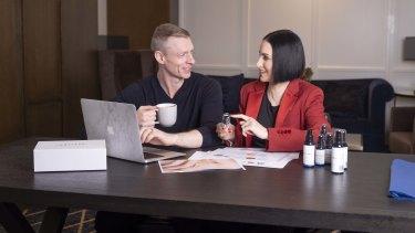 Kiri Yanchenko and Wesley Taylor, founders of Australian skincare brand Amperna.