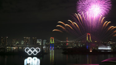 Fireworks light up Tokyo for the six-month countdown but the coronavirus outbreak has become an immense headache for organisers.