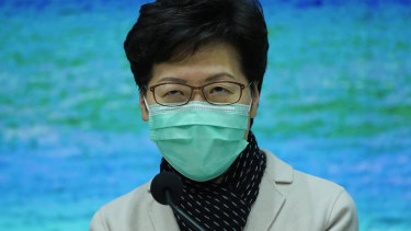 Hong Kong's chief executive Carrie Lam announces transportation restrictions in a move designed to reduce the spread of the coronavirus from mainland China.