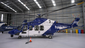 One of Victoria Police's new helicopters.