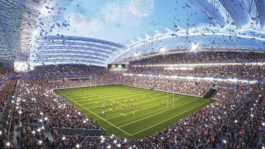 Construction might not begin on the new ANZ Stadium until late 2023.