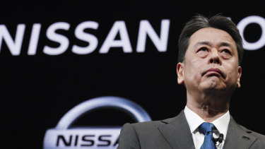 Nissan Chief Executive Makoto Uchida at the automaker's headquarters in Yokohama, near Tokyo, last month. Japanese securities regulators are recommending the company be fined 2.4 billion yen ($31 million) for the under-reporting of compensation of its former chairman, Carlos Ghosn.