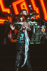Def Leppard on stage in Melbourne.