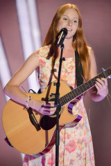 Celia Pavey on The Voice in 2013.