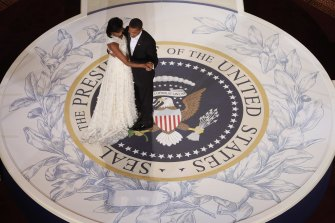 """Potent little miracle"" is how Michelle Obama described the Jason Wu gown she wore to her husband's first presidential inauguration ball."