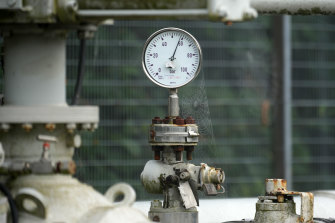 Rising pressure. Soaring gas prices have put the squeeze on European consumers.