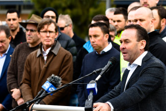 CanberraRaiders coach Ricky Stuart at the launch of the Emma Ruby House respite centre.